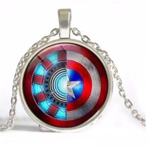 Other - Captain America & Iron Man Avengers Necklace